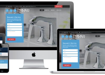 Primed Plumbing Website Design